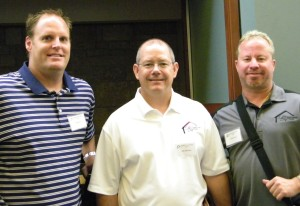 Builders Ben Gray of Norman, Jim Johnson and Dennis Lee, both of Tuttle