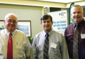 From left, Chickasaw Nation Senior Manager-Builder Ron Ward, Designer David Abbott, Estimator Craig Lofton