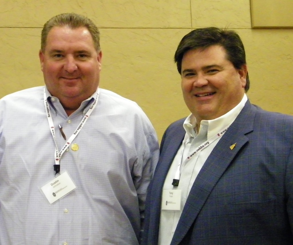 Dusty Johnston, left, will be taking over the reins of chair of the Certified Professional Builder committee next year. Congrats to Tony Foust who has served for several years. Job well done!