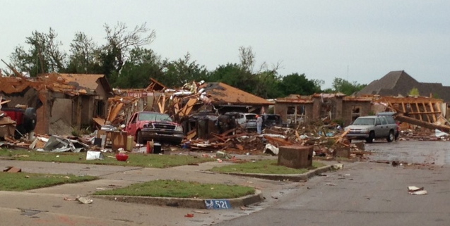 Moore neighborhood after last May's F5 tornado hit