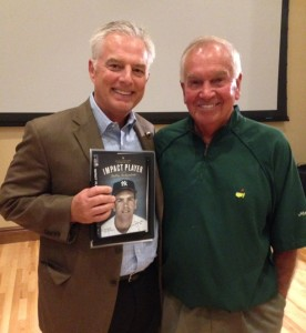 Mike Means is shown with legendary New York Yankees star Bobby Richardson.