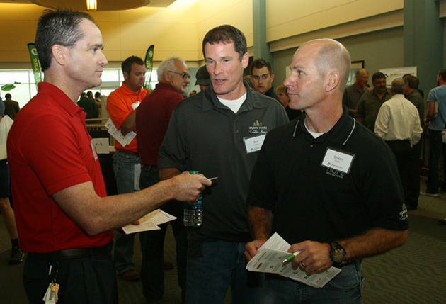 Networking between vendors and builders was a common scene during the day.