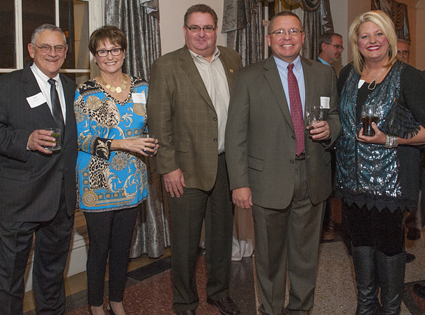 Builder Association of South Central Oklahoma was well represented at the state banquet. Among the attendees were, from left, former BASCO president Bob Thompson and wife Nancy Thompson, Certified Professional Builder committee chair Dusty Johnston, and former BASCO president Dan Reeves and wife Amy. Dan joined the state leadership ladder this year.