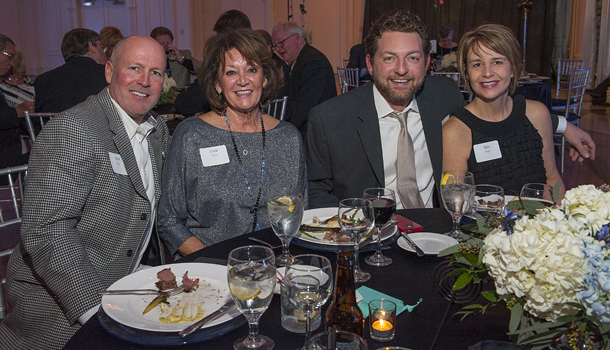 From Left, Mark Priess, Lana Nelson, John Madden, Rita Boggs share a table at the banquet.