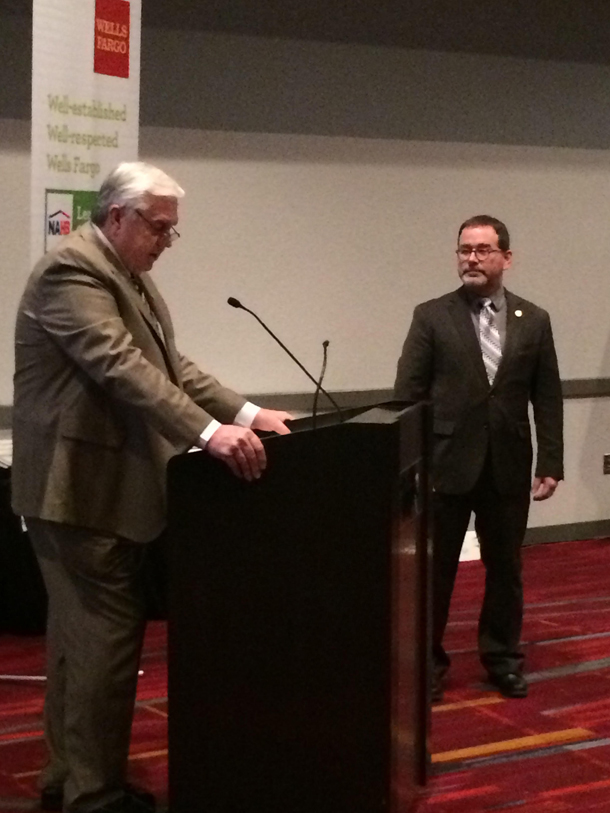 Paul Kane, right, installed during ceremony at NAHB International Builders Show in Las Vegas