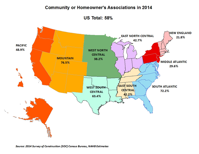 Home Owners Associations map