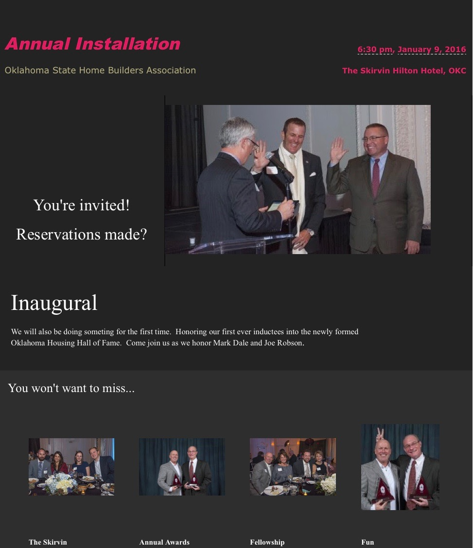 Annual Installation flyer